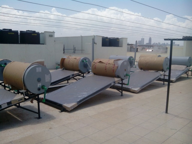 DG Oasis Apartments Solar Water Heater Panels